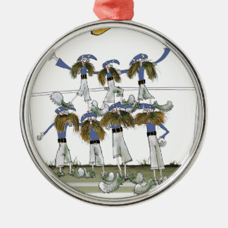 football defenders blue kit christmas ornament