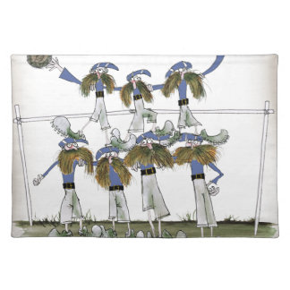 football defenders blue kit placemat