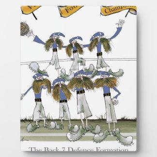 football defenders blue kit plaque
