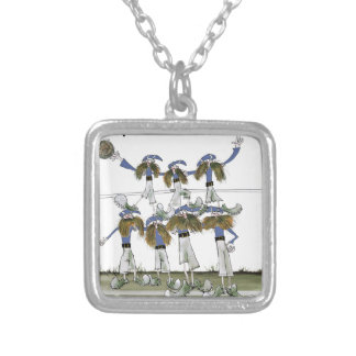 football defenders blue kit silver plated necklace
