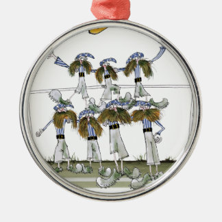 football defenders blue white kit christmas ornament