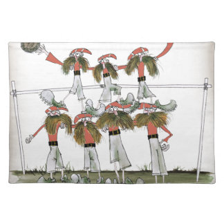 football defenders red kit placemat