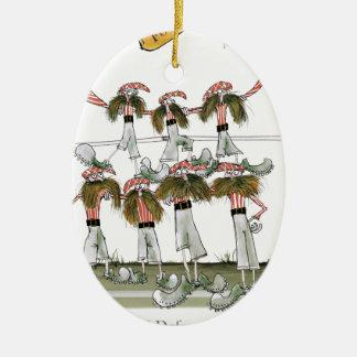 football defenders red white kit christmas ornament