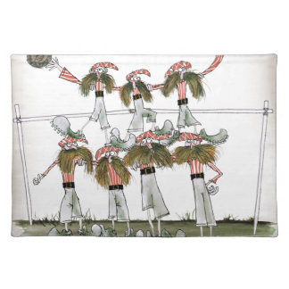 football defenders red white kit placemat