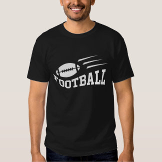 Football design with bouncing ball white on black t-shirts