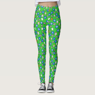 Football Design with Shirts in Blue Leggings