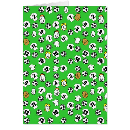 Football Design with White Shirts Card