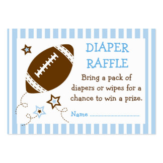 Football Diaper Raffle Tickets Pack Of Chubby Business Cards