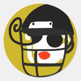 Football Diva Round Stickers