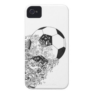 Football Doodle-art phonecase iPhone 4 Case-Mate Case