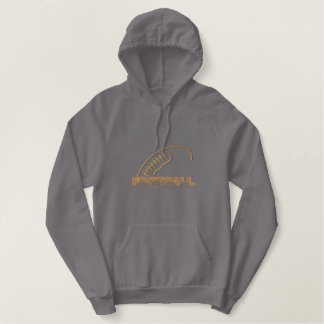 Football Embroidered Hoodie