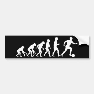 Football Evolution Bumper Sticker