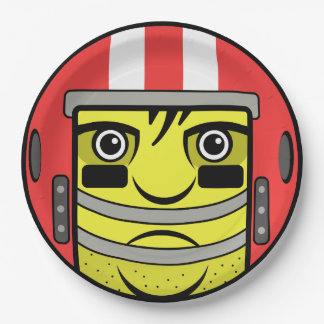 Football Face Paper Plate
