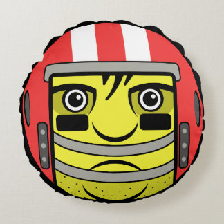 Football Face Round Cushion