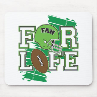 Football Fan Green Mouse Pad