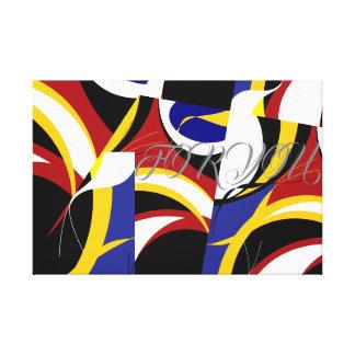 Football Fan Inspired Canvas Print