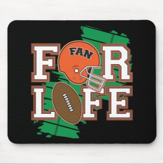 Football Fan Orange Mouse Pad