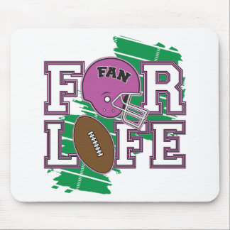 Football Fan Purple Mousepads
