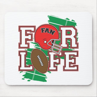 Football Fan Red Mouse Pad
