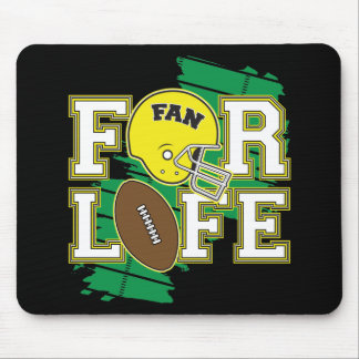 Football Fan Yellow Mousepads