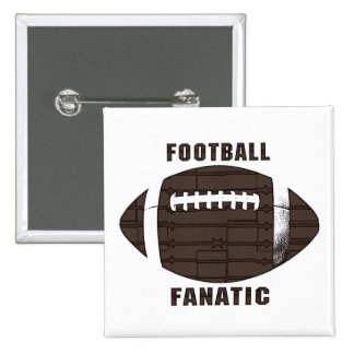 Football Fanatic by Mudge Studios Pinback Buttons