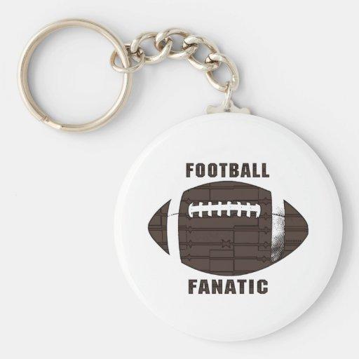 Football Fanatic by Mudge Studios Key Chains