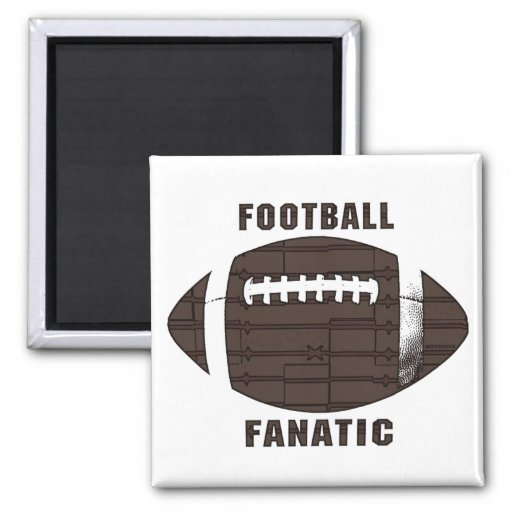 Football Fanatic by Mudge Studios Magnets