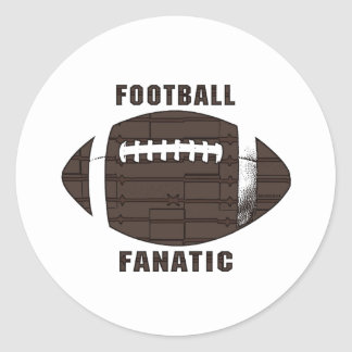 Football Fanatic by Mudge Studios Round Stickers