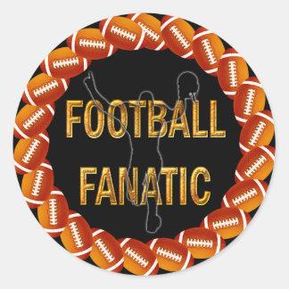 FOOTBALL FANATIC ROUND STICKER
