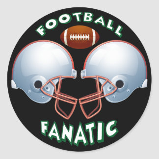 FOOTBALL FANATIC ROUND STICKER
