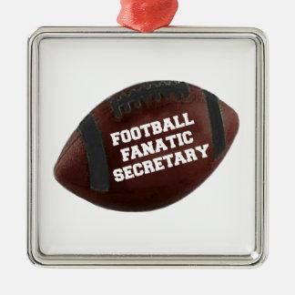 Football Fanatic Secretary Christmas Ornament