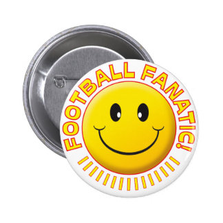 Football Fanatic Smiley 6 Cm Round Badge