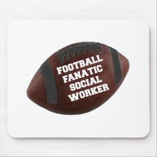 Football Fanatic Social Worker Mouse Mat