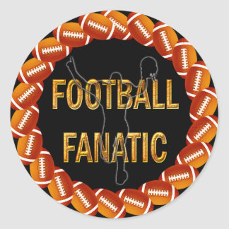 FOOTBALL FANATIC ROUND STICKERS