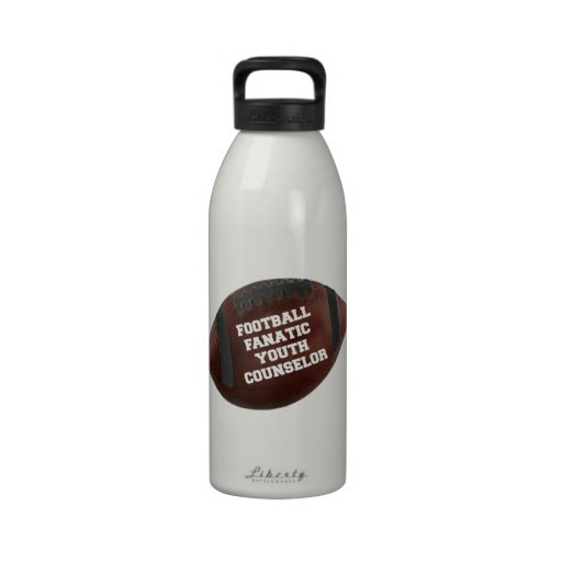 Football Fanatic Youth Counselor Reusable Water Bottle