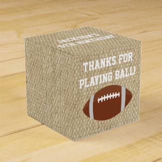 Football Favor Boxes for Birthday Party