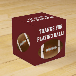 Football Favor Boxes for Birthday Party Favour Boxes