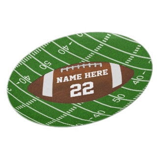 Football Field and Football Plate with YOUR TEXT