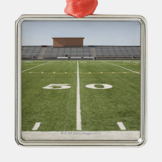 Football field and stadium christmas ornament