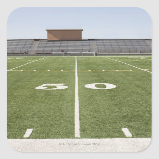 Football field and stadium square sticker