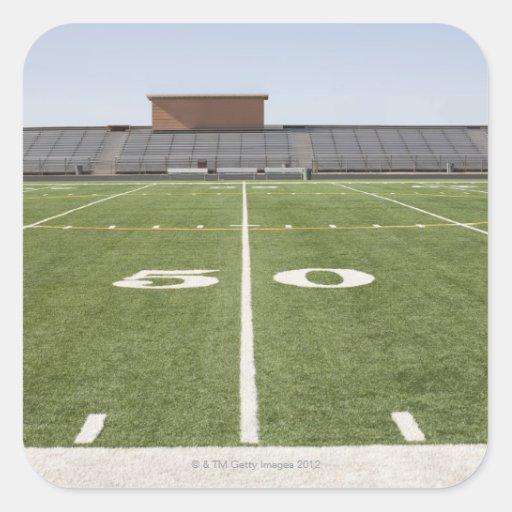 Football field and stadium sticker
