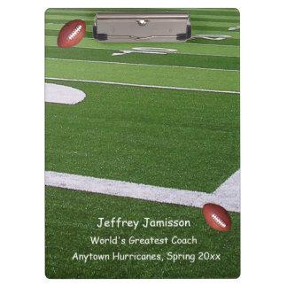 Football Field Clipboard, Greatest Coach Clipboards