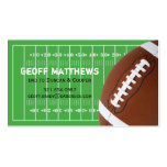 Football Field Daddy/Mummy Card Business Card Template