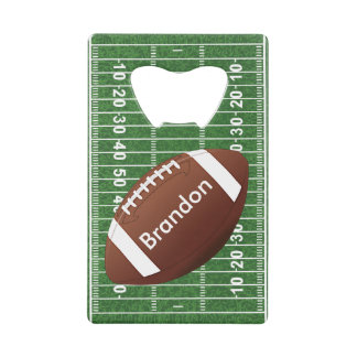 Football Field Design Bottle Opener