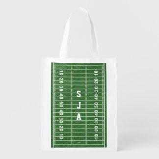 Football Field Design Reusable Tote