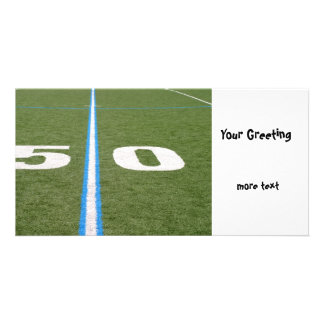 Football Field Fifty Picture Card