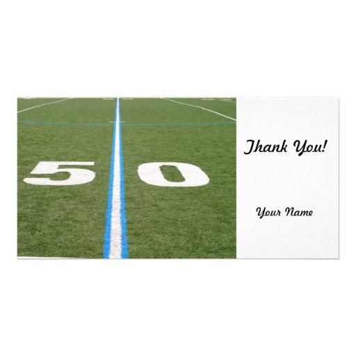 Football Field Fifty Photo Card