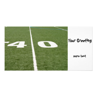 Football Field Forty Custom Photo Card