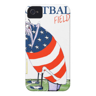 Football field goal, tony fernandes iPhone 4 Case-Mate cases