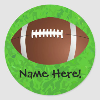 Football Field Junior Varsity Round Sticker